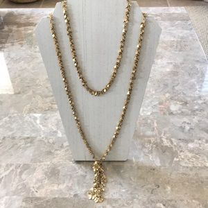 SALE!-Anthropologie Gold Tone Toggle Necklace NWOT